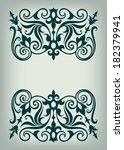 vector vintage ornate border... | Shutterstock .eps vector #182379941