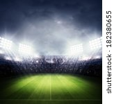 stadium light | Shutterstock . vector #182380655