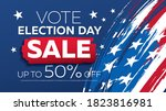 election day sale banner layout ... | Shutterstock .eps vector #1823816981