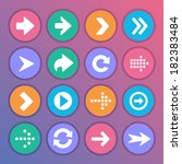 set of arrow icons in flat style | Shutterstock . vector #182383484