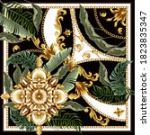 design scarf with baroque... | Shutterstock .eps vector #1823835347