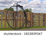 Antique Vintage Bicycle Parked...