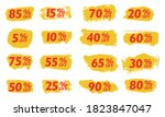 set sale tags set icons... | Shutterstock .eps vector #1823847047