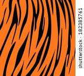 tiger skin print | Shutterstock .eps vector #182385761