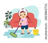 vector illustration cartoon of... | Shutterstock .eps vector #1823863721