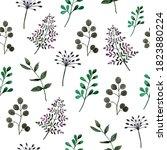 seamless pattern of green gray... | Shutterstock . vector #1823880224