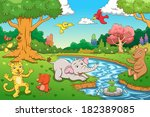 animal in the jungle. eps10... | Shutterstock .eps vector #182389085