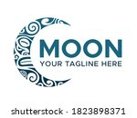 moon face logo graphic design...   Shutterstock .eps vector #1823898371