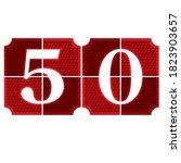 Number Fifty Button Vector...