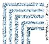 decorative border corner frame...   Shutterstock . vector #1823913767