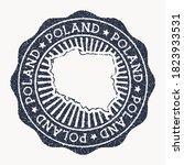 poland stamp. travel rubber... | Shutterstock .eps vector #1823933531