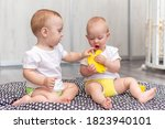 Cute Happy Babies Play Together ...
