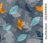 beautiful seamless doodle... | Shutterstock .eps vector #1823949854