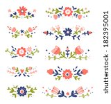 decorative floral compositions... | Shutterstock .eps vector #182395001