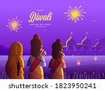 back view of lord rama with his ... | Shutterstock .eps vector #1823950241