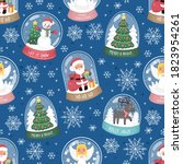 snow globe with different... | Shutterstock .eps vector #1823954261