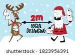 2m   social distancing   covid... | Shutterstock .eps vector #1823956391