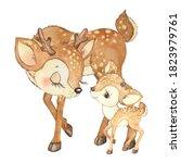 Watercolor Illustration Mom...