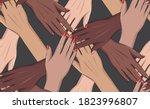 girls power  8 march girls...   Shutterstock .eps vector #1823996807