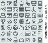 flat icons. simple line icons...