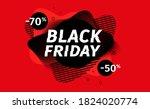 black friday sale banner.... | Shutterstock .eps vector #1824020774