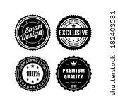 vintage labels  exclusive ... | Shutterstock .eps vector #182403581