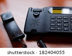a black office receiver wtith a ...   Shutterstock . vector #182404055