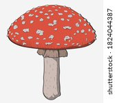 Vector Illustration. Amanita...