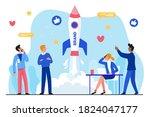 brand business startup flat... | Shutterstock .eps vector #1824047177