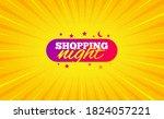 shopping night banner. yellow... | Shutterstock .eps vector #1824057221