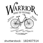 vintage bicycle illustration... | Shutterstock .eps vector #182407514