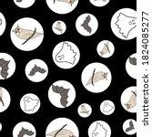 halloween seamless pattern...   Shutterstock .eps vector #1824085277
