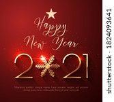 Happy New Year 2021 Text Design....