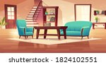 rustic house hallway interior...   Shutterstock .eps vector #1824102551