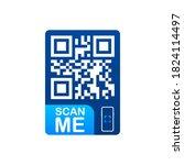 qr code for smartphone.... | Shutterstock .eps vector #1824114497