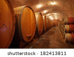 wine barrels in wine vaults in... | Shutterstock . vector #182413811