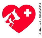 illustration veterinary emblem... | Shutterstock . vector #1824161054