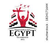 egypt holiday memorial day... | Shutterstock .eps vector #1824171644