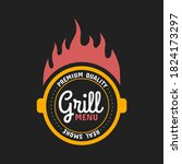barbecue and grill label  badge ...   Shutterstock .eps vector #1824173297