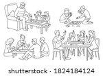 line art set of people... | Shutterstock .eps vector #1824184124