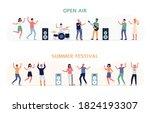 set of characters of open air...   Shutterstock .eps vector #1824193307