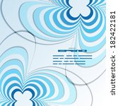 blue background with abstract... | Shutterstock .eps vector #182422181