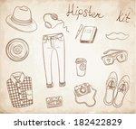 hipster kit vintage style | Shutterstock .eps vector #182422829