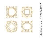 vector monogram border set.... | Shutterstock .eps vector #1824264257