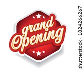 grand opening vintage sign red | Shutterstock .eps vector #1824266267