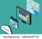 online leave request process in ...   Shutterstock .eps vector #1824269774