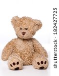 brown teddy bear isolated on...   Shutterstock . vector #182427725