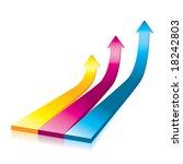 vector onwards   upwards arrows ... | Shutterstock .eps vector #18242803