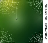 spider web corner illustration... | Shutterstock .eps vector #1824291287