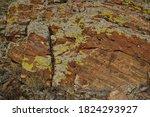 Textured Red Orange Stone Rock...